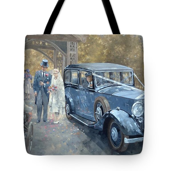 1930s Country Wedding  Tote Bag by Peter Miller