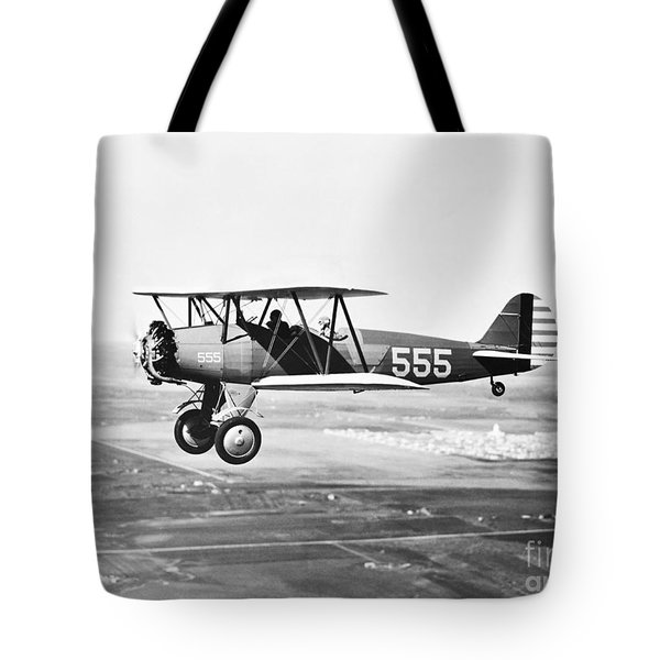 1930s Pilot Training Tote Bag by Omikron