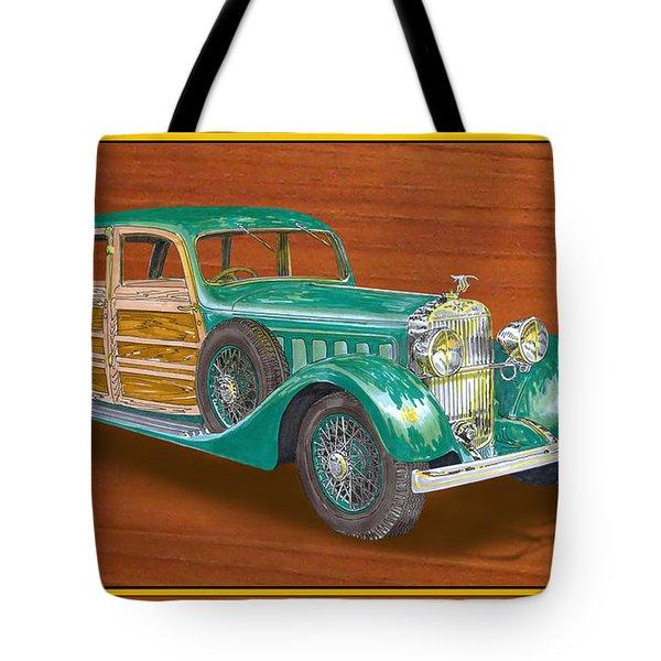 1934 Hispanosuzia Shooting Brake Tote Bag by Jack Pumphrey