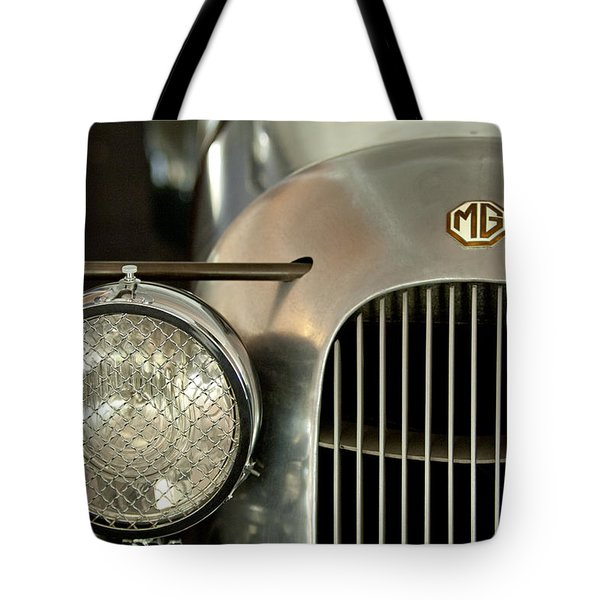 1934 Mg Pa Midget Supercharged Special Speedster Grille Tote Bag by Jill Reger
