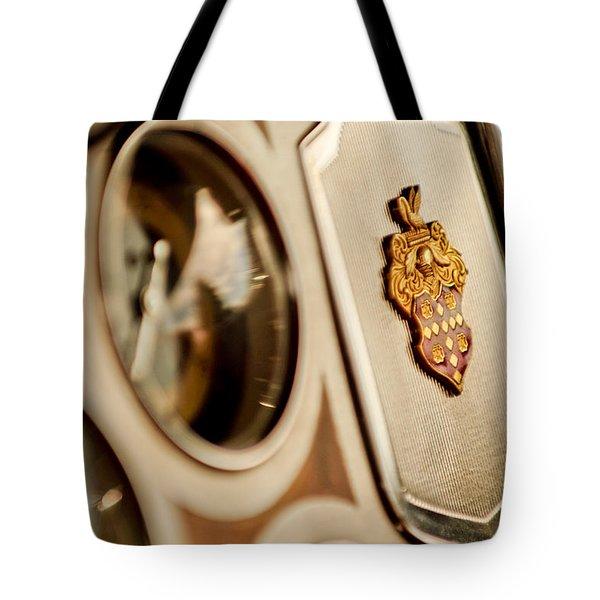 1934 Packard 1104 Super Eight Phaeton Emblem Tote Bag by Jill Reger
