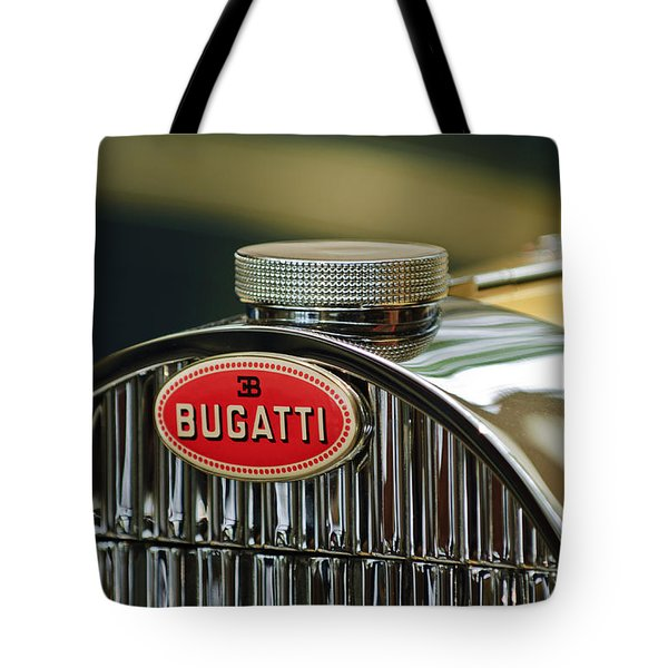 1935 Bugatti Type 57 Grand Raid Roadster Emblem Tote Bag by Jill Reger