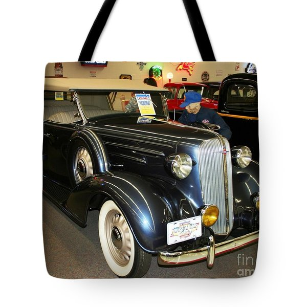 Tote Bag featuring the photograph 1936 Chevrolet Phaeton by John Black