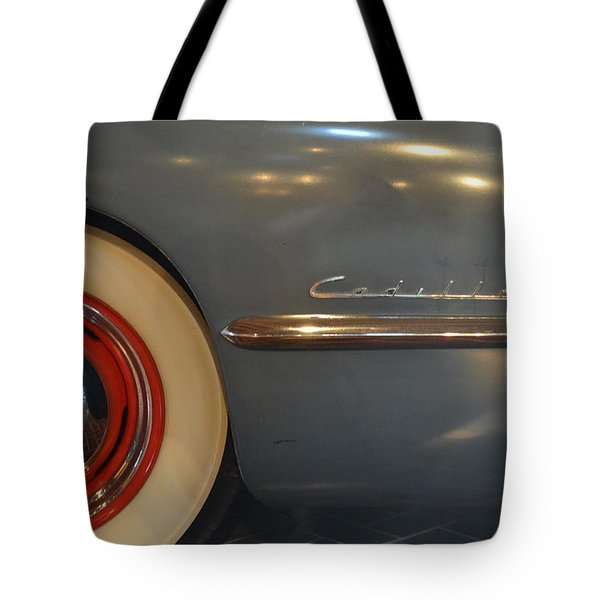 1942 Cadillac - Series 62 Sedanette Fastback Tote Bag by Michelle Calkins