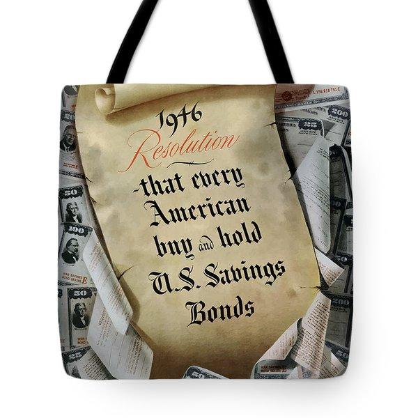 1946 Resolution  Tote Bag