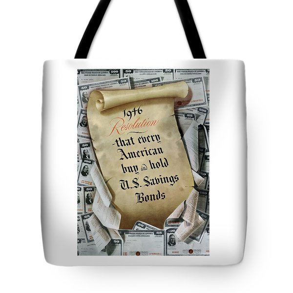 1946 Resolution  Tote Bag