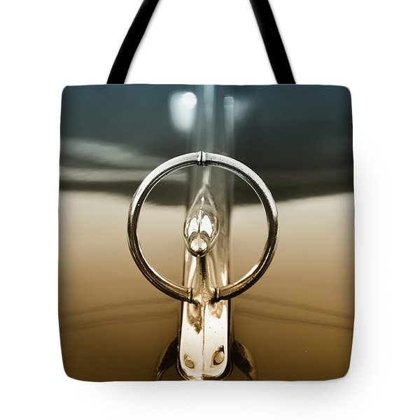 1948 Buick Eight Super Hood Ornament Tote Bag by Bill Cannon