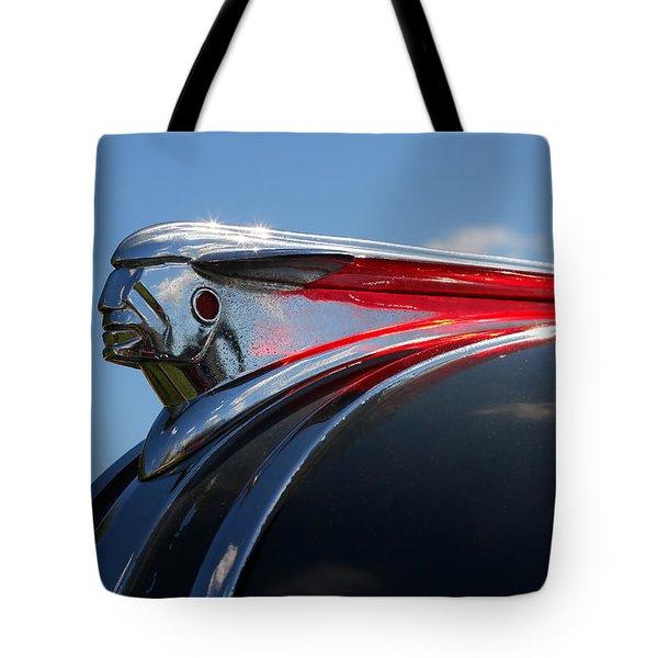 1948 Pontiac Silver Streak Hood Ornament Tote Bag by Gordon Dean II