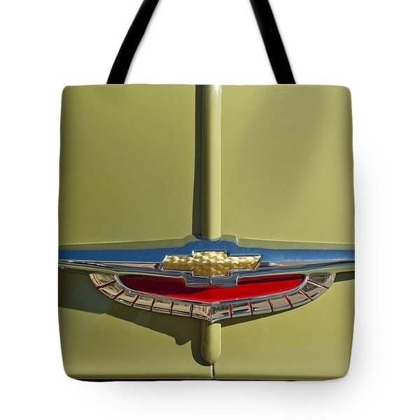 1950 Chevrolet Fleetline Emblem Tote Bag by Jill Reger