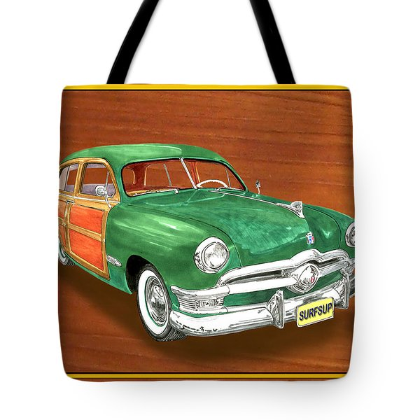 1950 Ford Country Squire Woody Tote Bag by Jack Pumphrey