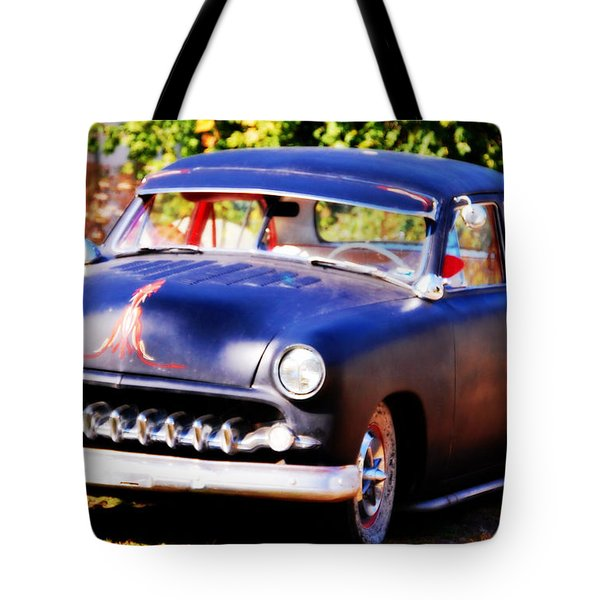 Tote Bag featuring the photograph 1950 Ford  Vintage by Peggy Franz