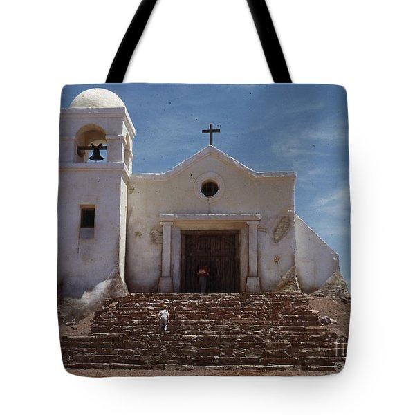 1950's Movie Set Church Tote Bag by Juls Adams