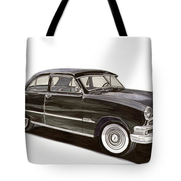 1951 Ford 2 Dr Sedan Tote Bag by Jack Pumphrey