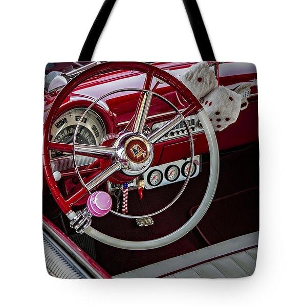 1953 Ford Crestline Victoria Tote Bag by Susan Candelario
