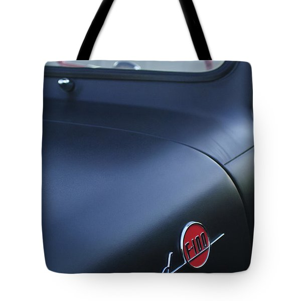 1953 Ford F-100 Pickup Truck Steering Wheel And Emblem Tote Bag