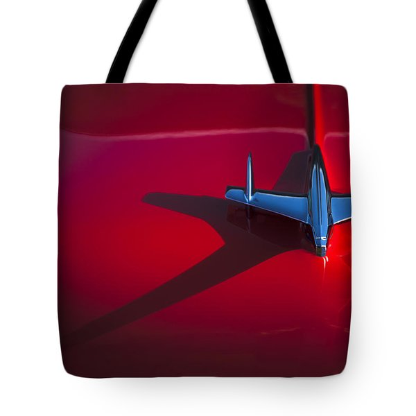 1955 Chevrolet Bel Air Hood Ornament Tote Bag