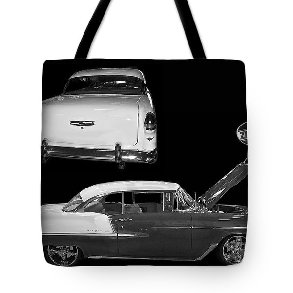 1955 Chevy Bel Air 2 Door Hard Top Tote Bag by Tim Mulina