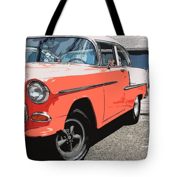 1955 Chevy Tote Bag by Steve McKinzie