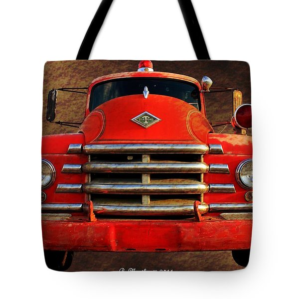 1955 Diamond T Grille - The Cadillac Of Trucks Tote Bag by Betty Northcutt