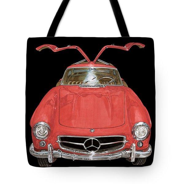 1955 Mercedes Benz 300sl Gull Wing  Tote Bag by Jack Pumphrey
