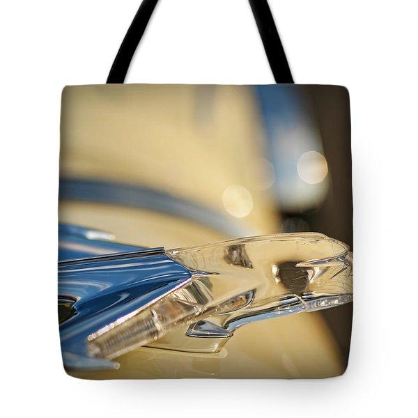 1955 Pontiac Star Chief Hood Ornament  Tote Bag by Gordon Dean II