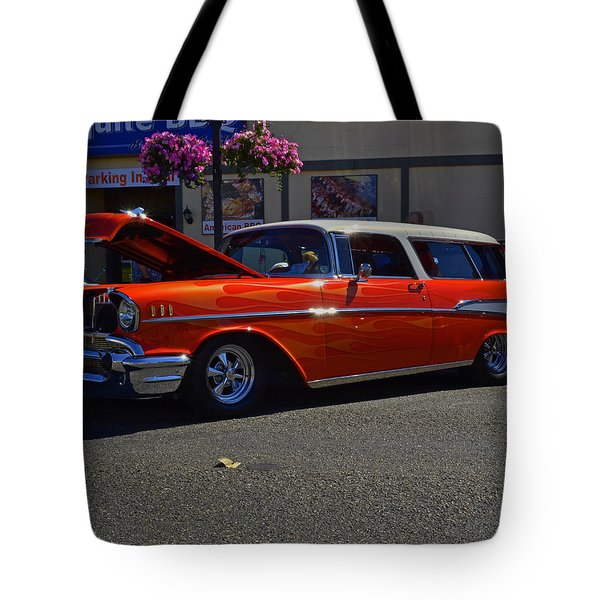 Tote Bag featuring the photograph 1957 Belair Wagon by Tikvah's Hope