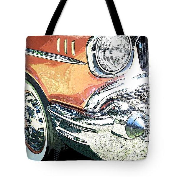 1957 Chevy Tote Bag by Steve McKinzie
