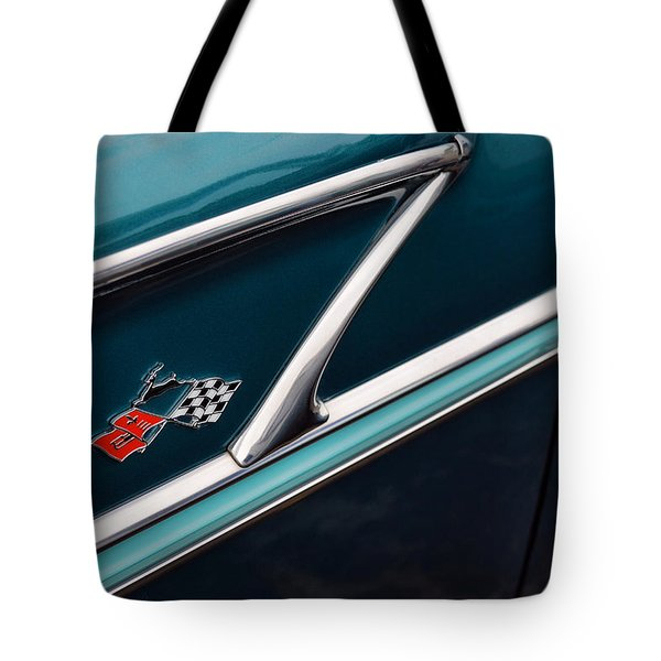 Tote Bag featuring the photograph 1958 Chevrolet Bel Air by Gordon Dean II