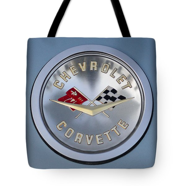 1959 Corvette Emblem Tote Bag by Paul Ward
