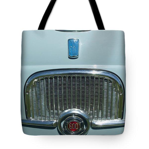 1959 Fiat Multipia Hood Emblem Tote Bag by Jill Reger