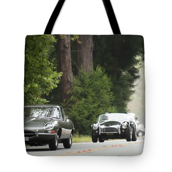 1961 Jaguar E-type 3.8 Litre Fixed Head Coupe Tote Bag by Jill Reger