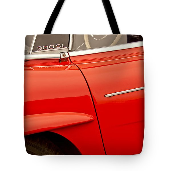 1962 Mercedes-benz 300 Sl Roadster Tote Bag by Jill Reger