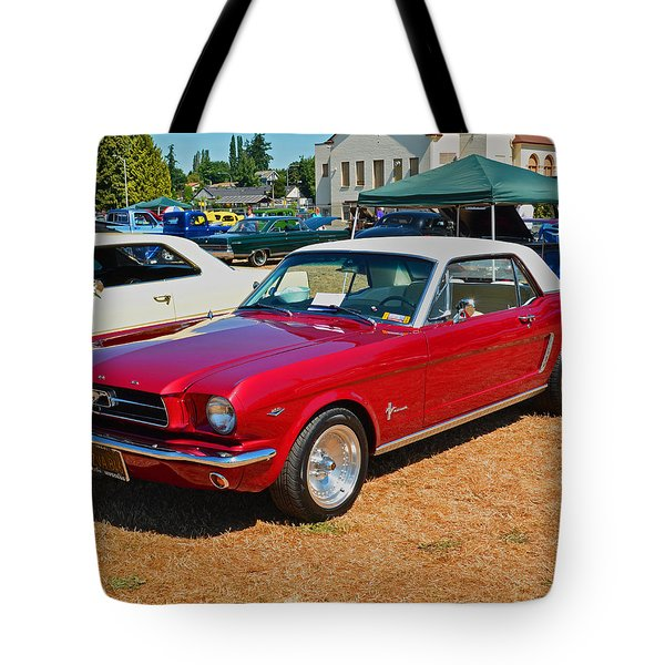 Tote Bag featuring the photograph 1964 Ford Mustang by Tikvah's Hope