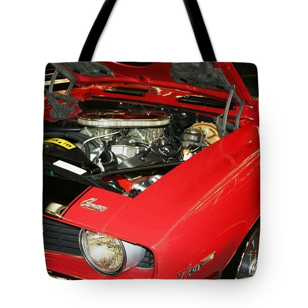 Tote Bag featuring the photograph 1969 Z-28 Crossram With 9737 Copo Option by John Black