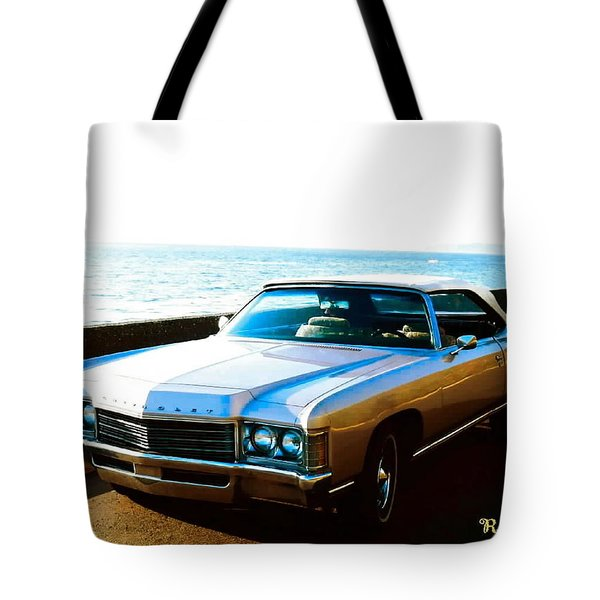 1971 Chevrolet Impala Convertible Tote Bag by Sadie Reneau