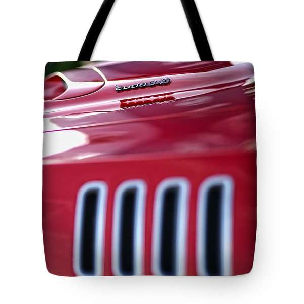 1971 Plymouth 'cuda 340 Tote Bag by Gordon Dean II