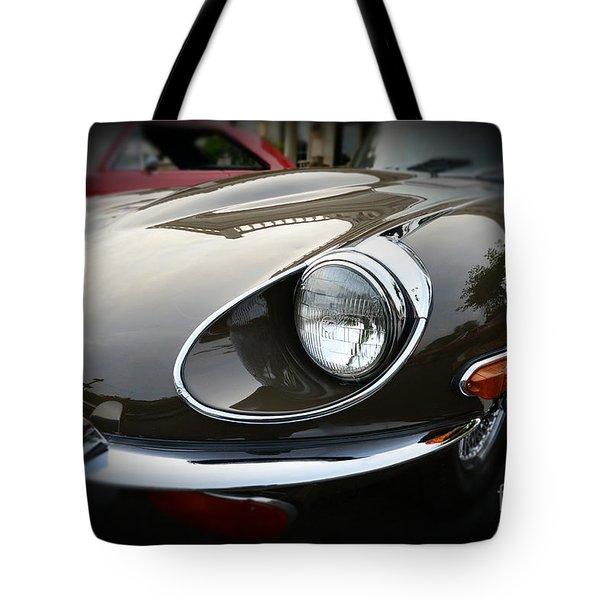 1973 Jaguar Type E Front Tote Bag by Paul Ward