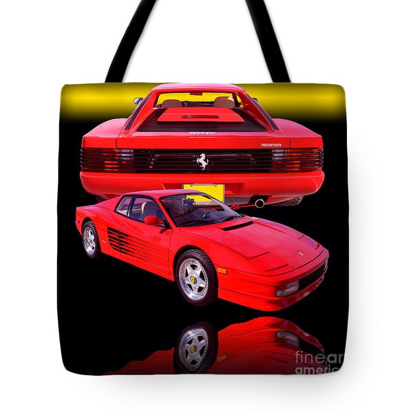 1990 Ferrari Testarossa Tote Bag by Jim Carrell