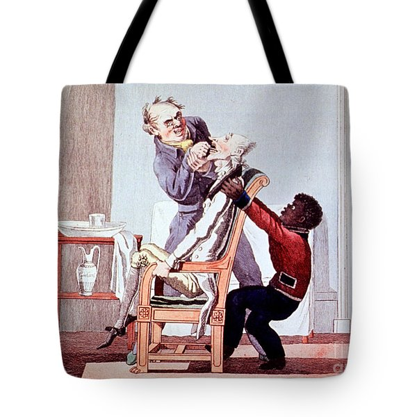 19th Century Dentistry Tooth Extraction Tote Bag by Science Source