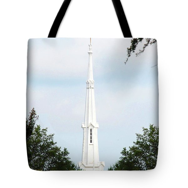 1st Christian Steeple Tote Bag