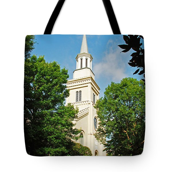 Tote Bag featuring the photograph 1st Presbyterian Church by Kay Lovingood