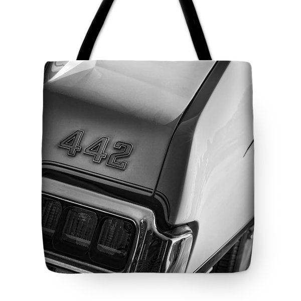 1972 Oldsmobile Cutlass 442 Tote Bag by Gordon Dean II