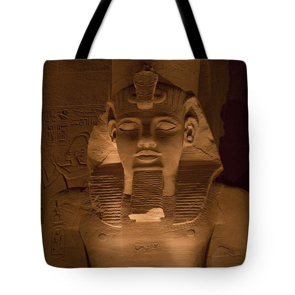 A Close View Of Ramses IIs Temple Tote Bag by Taylor S. Kennedy