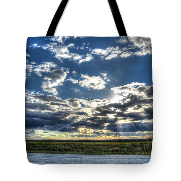 A September Sunset Tote Bag by Jackie Novak