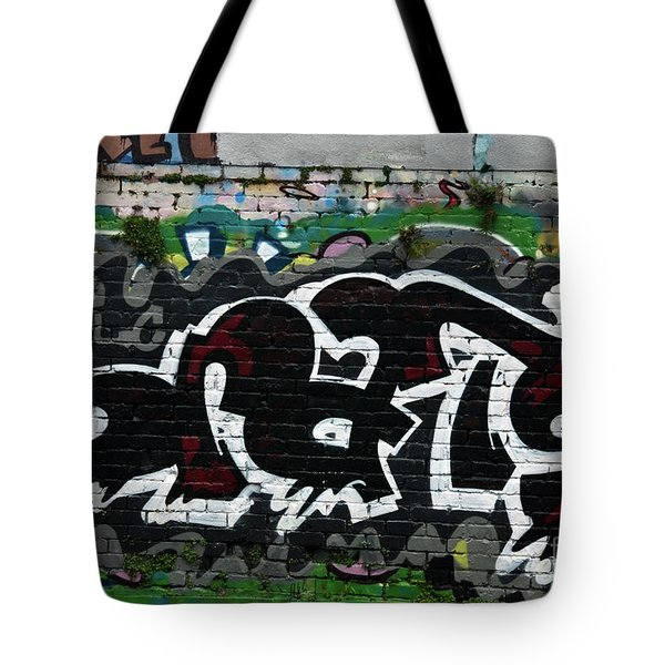 Tote Bag featuring the painting Abstract Graffiti by Yurix Sardinelly