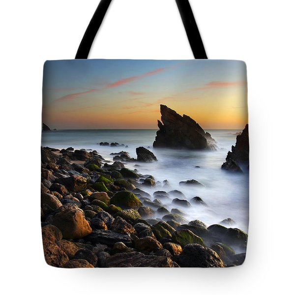 Adraga Beach Tote Bag by Carlos Caetano