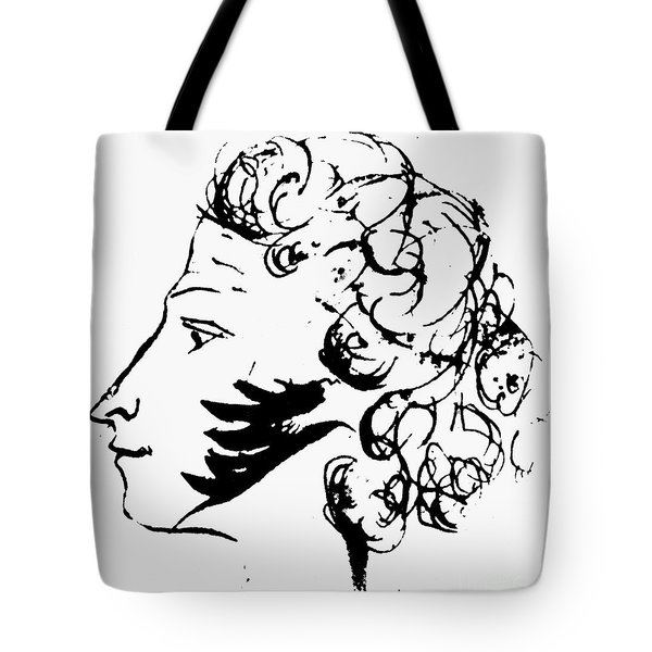 Aleksandr Pushkin Tote Bag by Granger