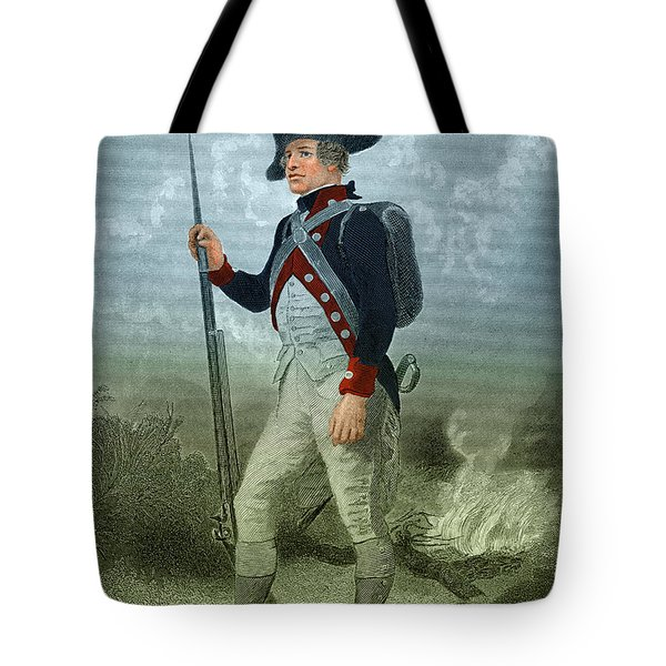 American Continental Soldier Tote Bag by Photo Researchers