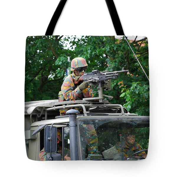 An Infantry Soldier Of The Belgian Army Tote Bag by Luc De Jaeger