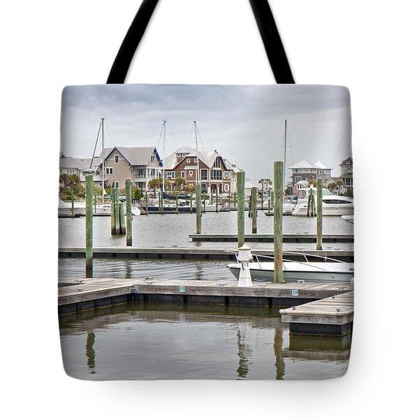 Bald Head Island Marina  Tote Bag